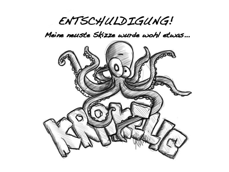 Zeichnung eines Kraken.